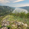 Danube gorge on the Romanian-Serbian border,Cazanele Mari National Park — Stock Photo