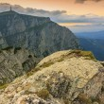 Beautiful sunset in the mountains landscape,Bucegi mountains,Carpathians,Romania — Stock Photo #28618821