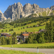 Dolomite mountains above Cortina D'Ampezzo,Sudtirol,Italy — Stock Photo