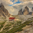 Locatelli Refuge in the Dolomites,Tre Cime Di Lavaredo,Alps,Italy — Stock Photo #31850053