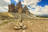 Dolomites mountain panorama,Tre Cime Di Lavaredo,Sudtirol,Italy — Stock Photo