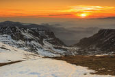 Beautiful sunset in the Bucegi mountains,Carpathians,Romania — Foto de Stock