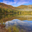 Beautiful autumn landscape and clear lake,St Ana lake,Romania — Stock Photo