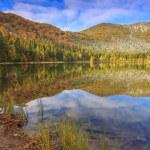 Beautiful autumn landscape and clear lake,St Ana lake,Romania — Stock Photo