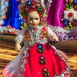 Stock Photo: Beautiful traditional handmade doll and colorful skirt