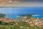 Makarska la célèbre station balnéaire en croatie, dalmatie, europe — Photo