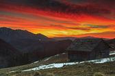 Majestic sunrise in the mountains,Ciucas,Transylvania,Romania — Stock Photo