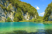 Plitvice lakes of Croatia,gorge in National Park — Stock Photo