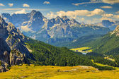 Sorapis mountain group and Misurina Lake,Dolomites,South Tyrol,Italy — Stock Photo