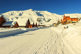 Beautiful ski resort in Alps,La Toussuire,France — Stock Photo