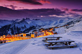 Famous ski resort in the Alps,Les Sybelles,France — Stock Photo
