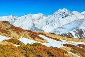 Spring landscape in the high mountains,Fagaras,Carpathians,Romania — Stock Photo