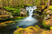 Beautiful cascade waterfall in the forest,Retezat National Park,Romania — Стоковое фото