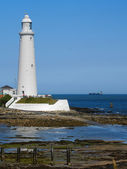 A White Lighthouse — Stock Photo