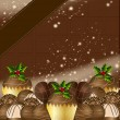 Luxury Chocolate Christmas Design — Stock Photo #21827221