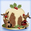Royalty-Free Stock Photo: Reindeer With Christmas Pudding
