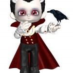 Little Vampire Cartoon Render — Stock Photo