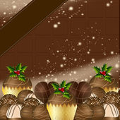 Luxury Chocolate Christmas Design — Stock Photo