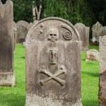vieja piedra de la tumba — Foto de Stock