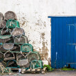 Lobster Pots And Blue Door — Stock Photo