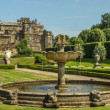 English Stately Home And Garden — Stok fotoğraf