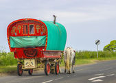 Old Traditional Gypsy Caravan — Stock Photo
