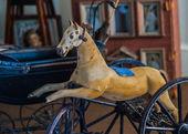 Vintage Rocking Horse Toy — Stock Photo