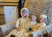 Antique Porcelain Dolls — Stock Photo