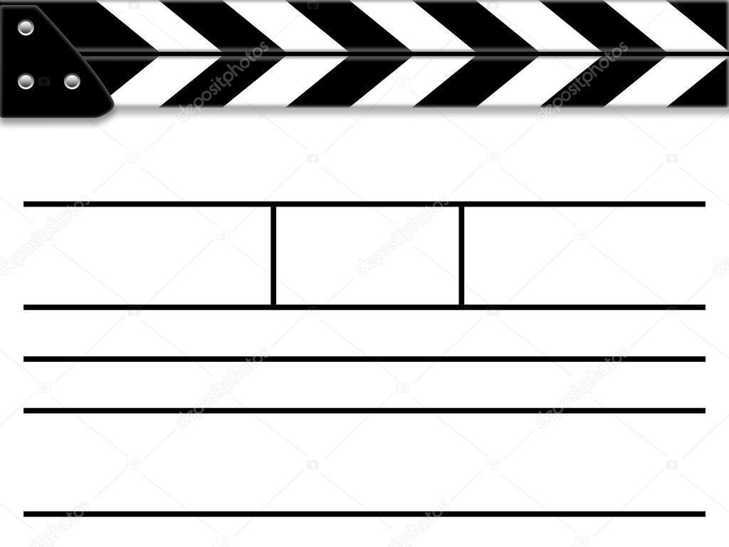 blank film slate - photo #6