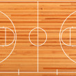 Basketball court floor plan on parquet background — Stock Photo
