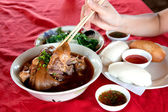 Stewed pork leg — Stock Photo