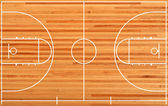 Basketball court floor plan on parquet background — Foto Stock