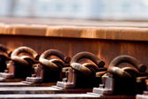 Nuts and bolts of a railway — Stock Photo