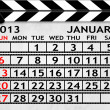 Calendar January 2013, Clapper board or slate style — Stock Photo