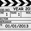 Cover Calendar 2013, Clapper board or slate style — Stock Photo