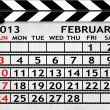 Calendar February 2013, Clapper board or slate style — Stock Photo