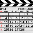Calendar February 2013, Clapper board or slate style — Stock Photo #21585427