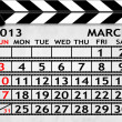 Calendar March 2013, Clapper board or slate style — Stock Photo