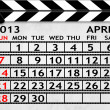 Calendar April 2013, Clapper board or slate style — Stock Photo
