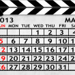 Calendar May 2013, Clapper board or slate style — Stock Photo