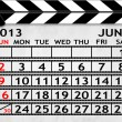 Calendar June 2013, Clapper board or slate style — Stock Photo