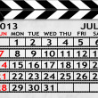 Calendar July 2013, Clapper board or slate style — Stock Photo