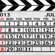 Royalty-Free Stock Photo: Calendar July 2013, Clapper board or slate style
