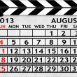Calendar August 2013, Clapper board or slate style — Stock Photo #21585675