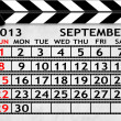 Royalty-Free Stock Photo: Calendar September 2013, Clapper board or slate style