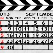 Calendar September 2013, Clapper board or slate style — Stock Photo