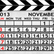 Calendar November 2013, Clapper board or slate style — Stock Photo #21585753