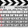 Calendar November 2013, Clapper board or slate style — Stock Photo