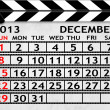 Calendar December 2013, Clapper board or slate style — Stock Photo