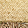 Bamboo wood texture ,Thai handwork — Stock Photo #21587273